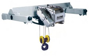 Birrail electric wire rope hoist
