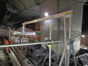Bridge lightweight aluminum crane assembly 2