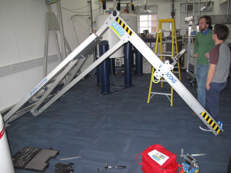 Puente grúa ligero aluminio montaje 1