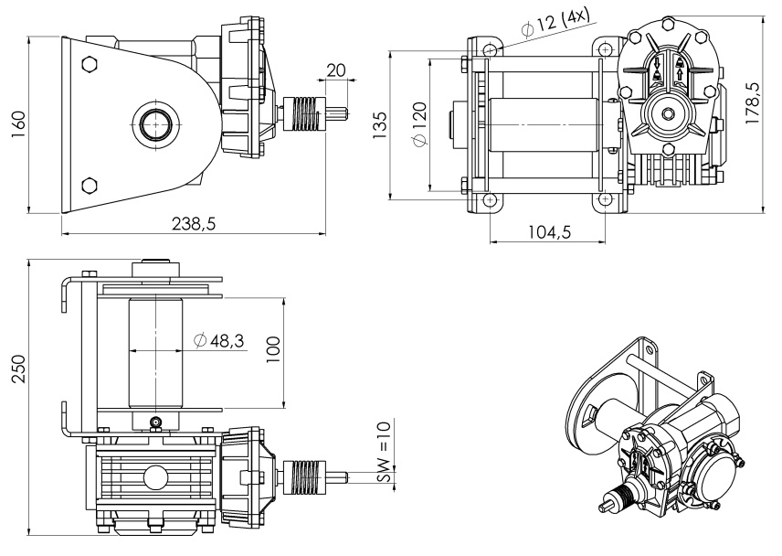 Drill winch 05 outline