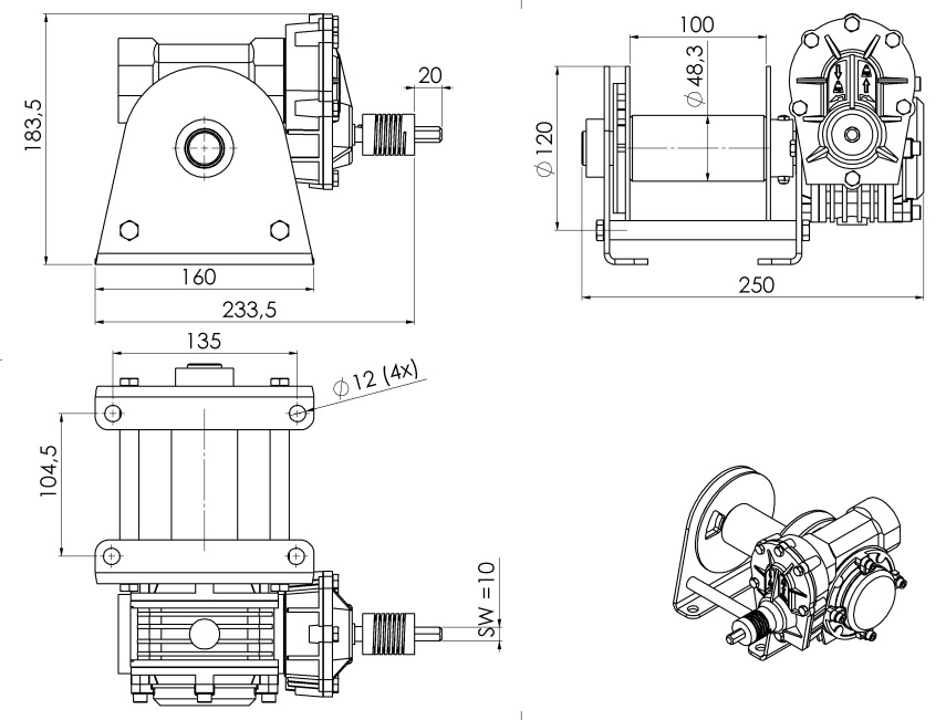 Drill winch 06 outline
