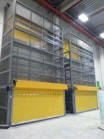 Puerta enrollable aluminio amarillo