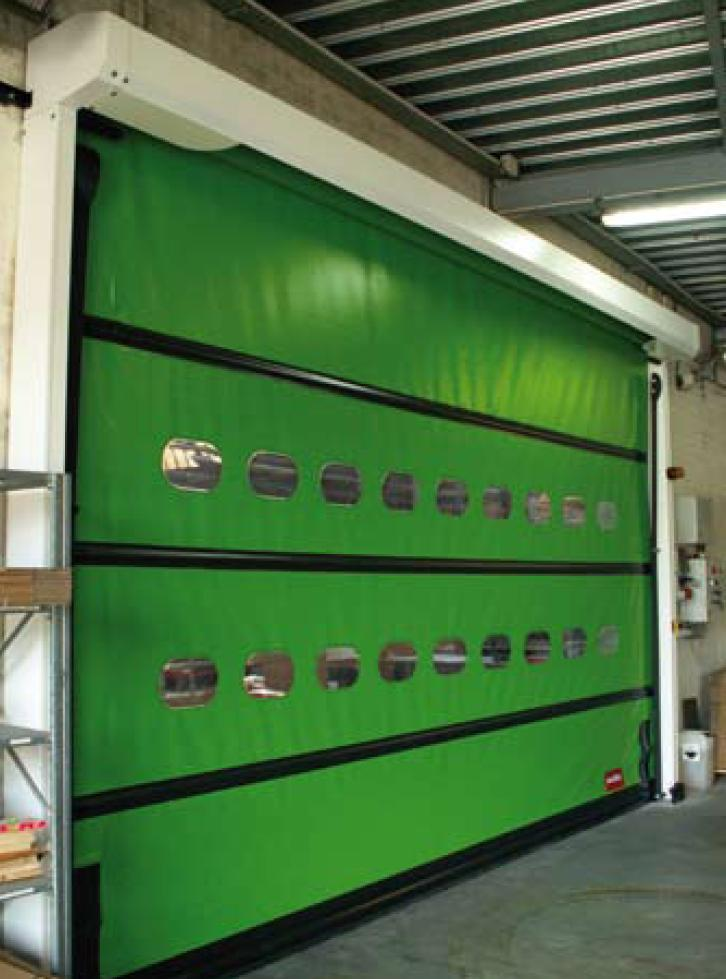 Rapid self-healing roller door plus