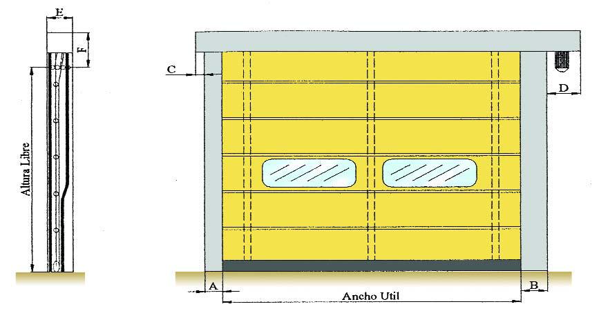 Esquema porta ràpida plegable OPENFRY