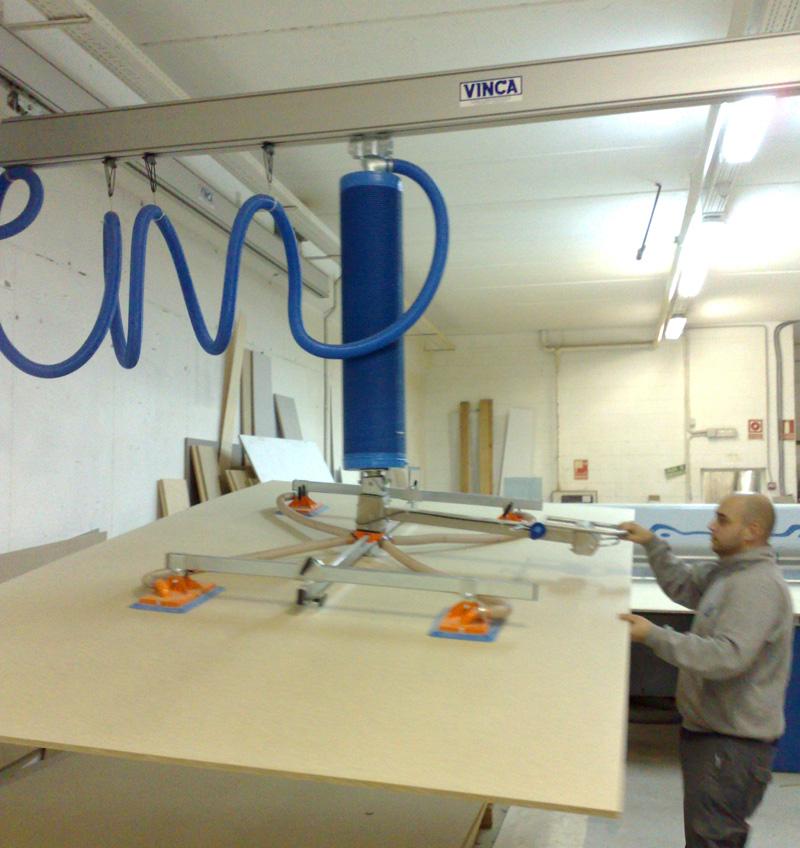 Sistema suspension para manipulador trompex bajo puente de aluminio