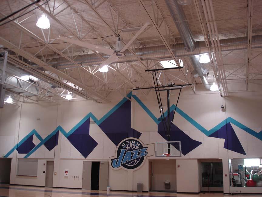Industrial fan basketball court