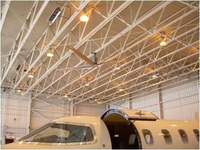 Industrial hangar fan