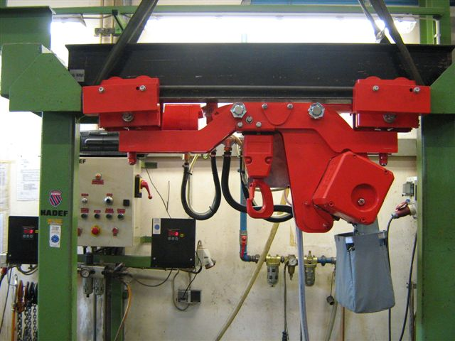 Pneumatic hoist asr super reduced height example of use