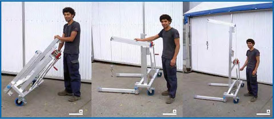 Aluminium custom made multilifts example 1