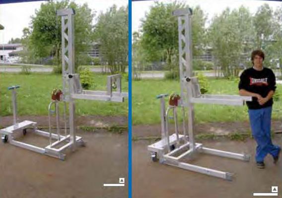 Aluminium custom made multilifts example 5