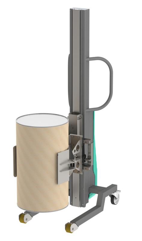 Elevador bidon carton vertical