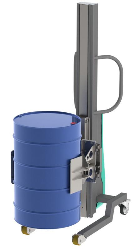 Elevador bidon metalico vertical 2