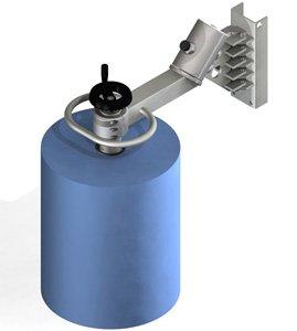 Manual crank for interior clamping