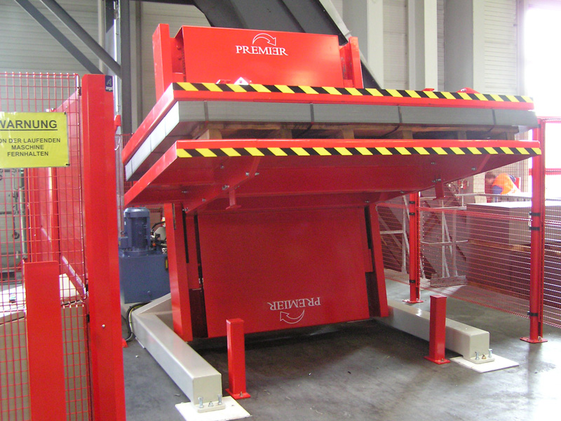 Girador 180 grados integrado en línea de producción automatizada