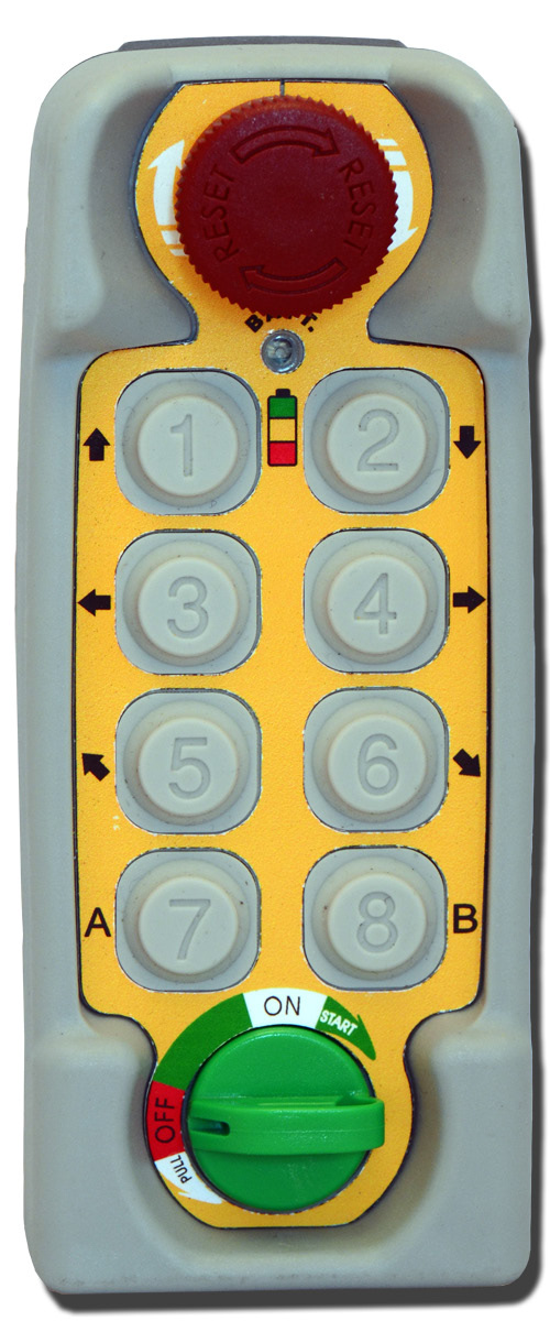 Radio control TENDER 8 buttons