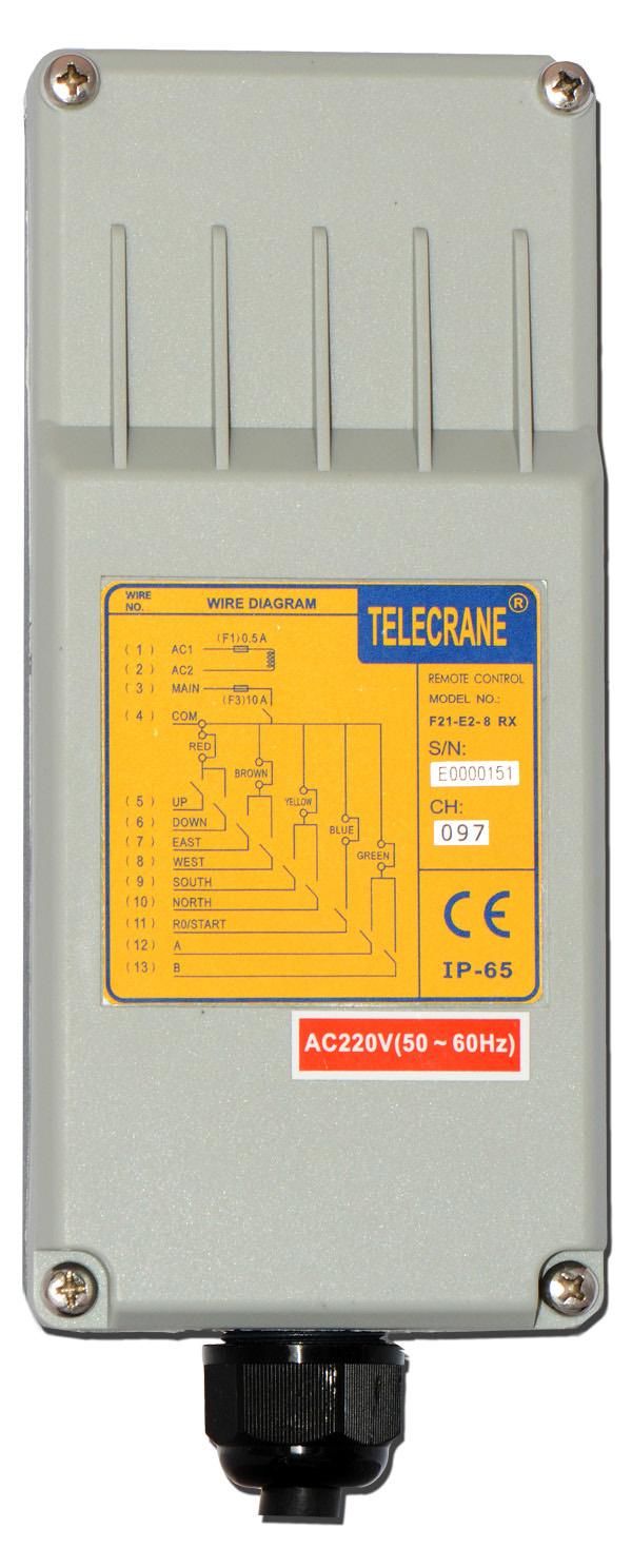 Radio control TENDER dorsal