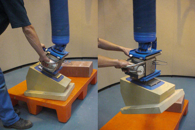 Manipulador vacío TROMPEX para bloques de piedra 05