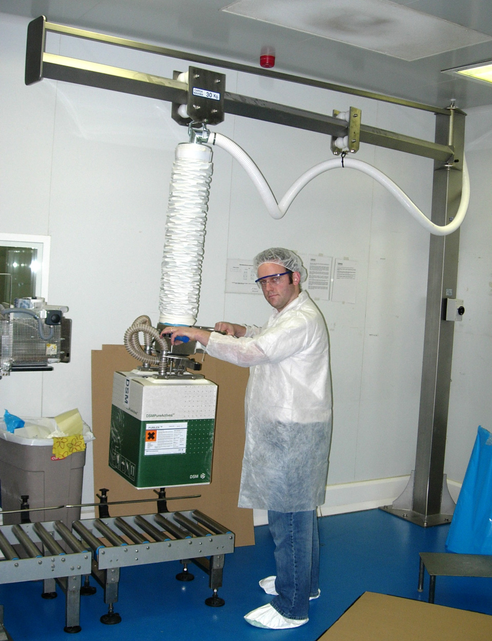 Vacuum trompex stainless steel manipulator for boxes