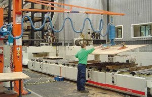 Manipulador de vacío para tableros de madera