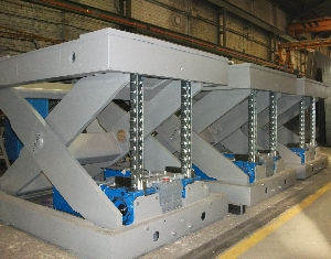 Mesa de tijera electromecanica con cadena serapid