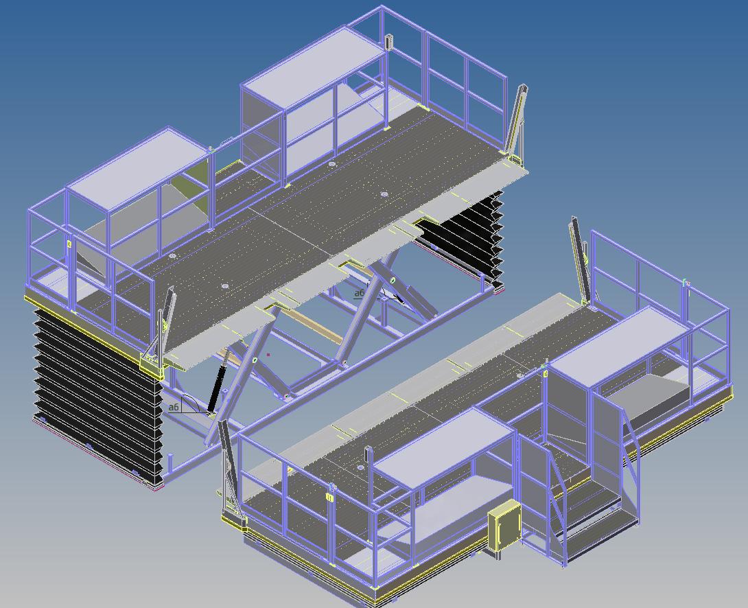 Mesas elevadoras de trabajo serra