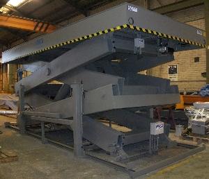Mesa elevadora de tijera doble reforzada HMDR