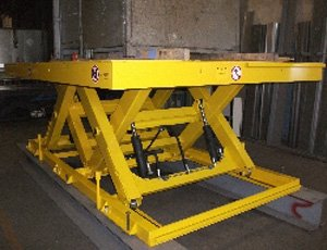 Tandem lifting table in tubular structure