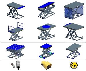 Scissor tables options