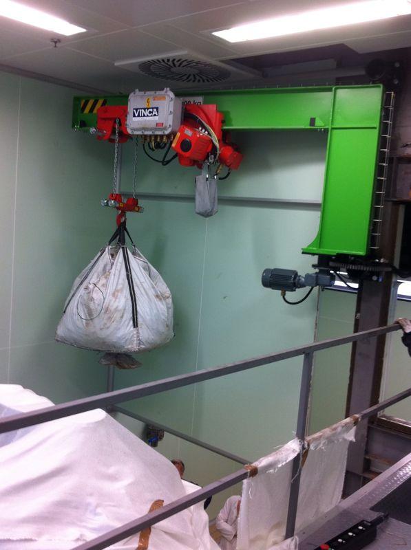Pluma motorizada mural sacos 1
