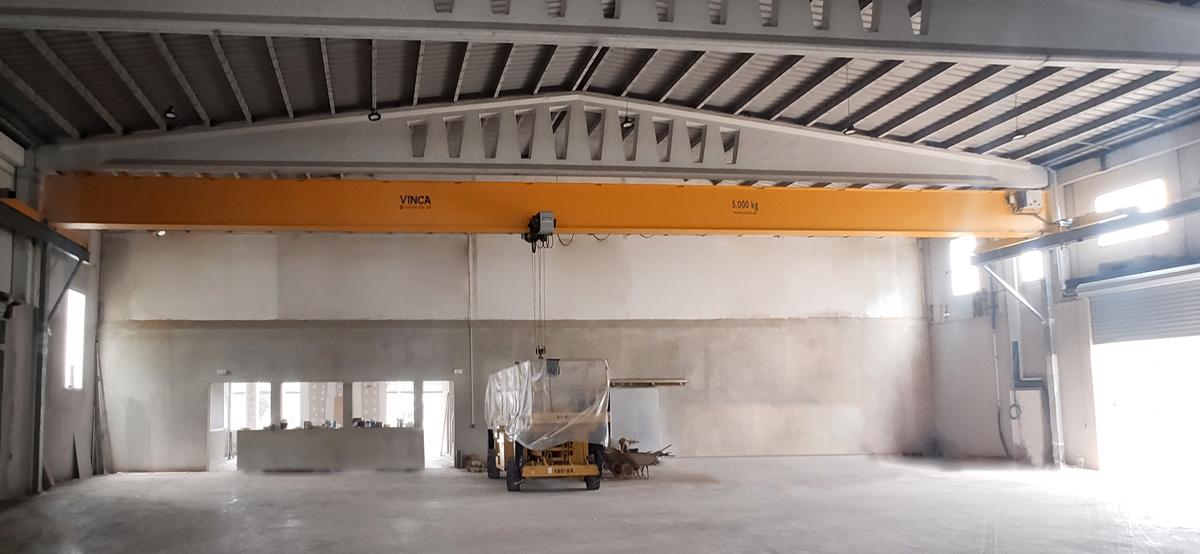 GERMANS HOMS project: Monorail overhead crane 8t