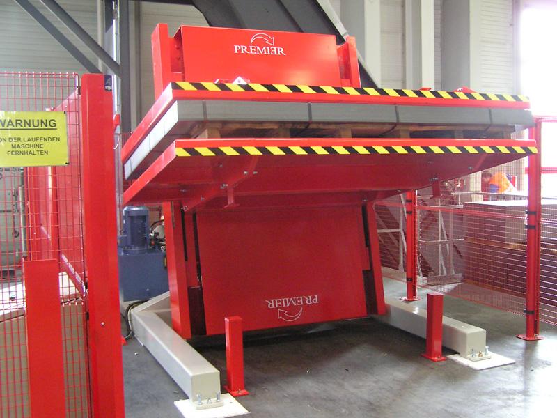 Girador 180º integrat a línia de producció automatizada