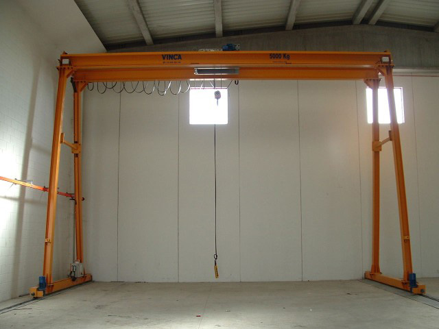 Internal gantry crane