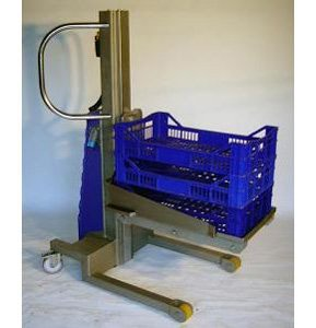 Manipulator lifting boxes with platform