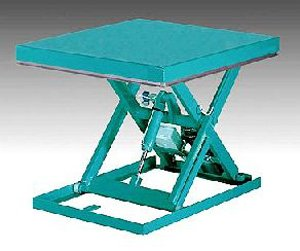 Scissor table for uniform loads