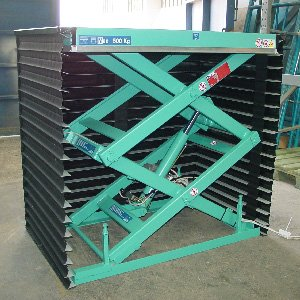 Double pantograph scissor lift table hmd