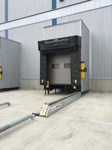 Loading dock with WHEEL-LOK