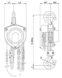 Stainless steel manual hoist scheme