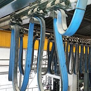 Porte-câble courbé