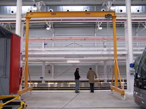 Steel rail lightweight gantry