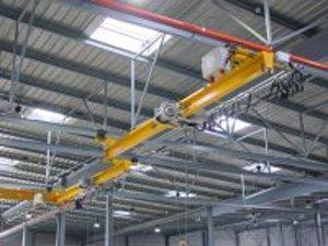 Suspension monorail crane bridge