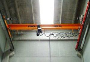 Puente grúa opcionalmente con polipasto a cadena