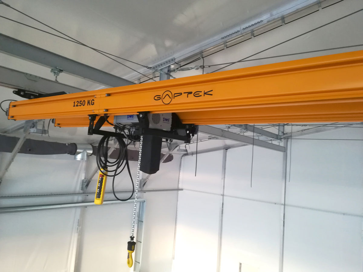 GAPTEK project: lightweight crane bridge double way