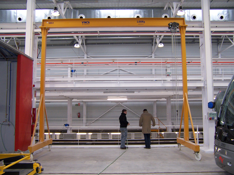 Steel rail lightweight gantry
