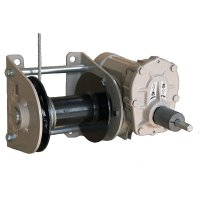 Battery driven worm gear winch