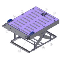 Lift table for aerial pallets