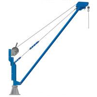Movable aluminium jib crane COMALU 600T
