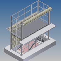 Esquema 3d mesa elevadora