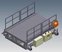 Mesa de tijera electromecánica con cadena 3d