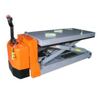 Mobile lift table with battery