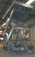 Mesa elevadora de tijera doble de hasta 30t de carga